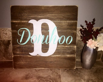 Custom Hand-Painted Family Name Sign