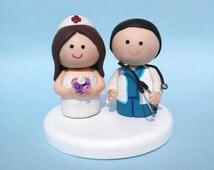 Wedding cake topper, physician wedding cake topper, nurse wedding cake topper