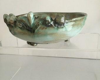 Snapdragon - handmade ceramic footed bowl or ring dish