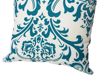 Teal Elegant Decorative Pillow Cover with Zipper