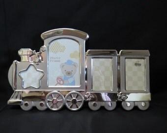 Customized Laser Engraved Train Photo Frame