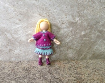 Little Sister Kristen -  Pocket Doll, Bendy Doll