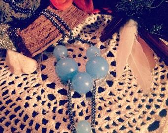 """Boho Chic's  """"Balanced"""" Necklace  Blue Moonstone"""