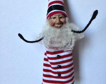 Santa, Santa Ornament, Christmas Ornament, Hanging Ornament, Stocking Stuffer, Gift Box Decoration