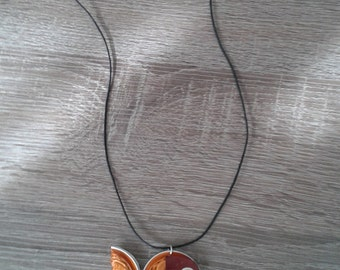 Necklace Fish - Nespresso jewelry. Upcycled coffee pods. Recycled, Eco friendly. Original gift. For girls. Choose your color: red, orange...