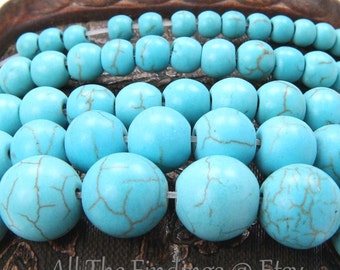 200 Wholesale Lot Turquoise Beads Blue Green 4mm and Up DIY Necklace Bracelet Anklet Beading Cheap Cost Great Quality