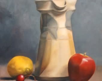 Pitcher and Fruit Still Life