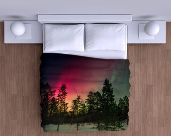 Aurora Borealis Northern Lights Duvet Cover - Super Soft Duvet