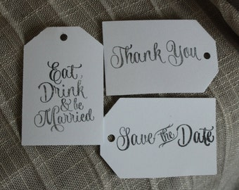 Wedding Favor Tags Set
