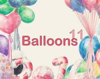 Colored pencils - Balloons