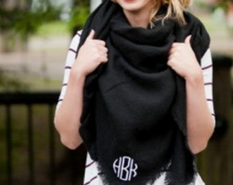 Blanket Scarves, Monogrammed Blanket Scarves, Bridesmaid Gifts, Gifts for her, Personalized Gifts, Personalized scarves, Monogrammed Scarf