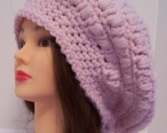 Pink Slouchy Hat