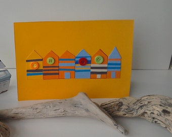 Orange beach huts