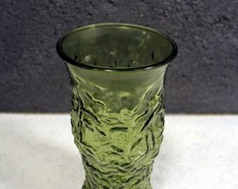 Vintage E.O. Brody Green Glass Vase