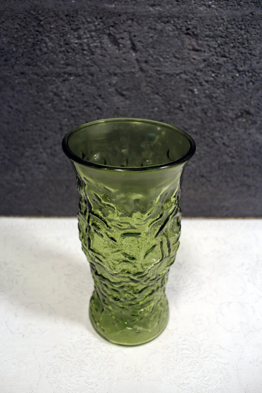Vintage E O Brody Green Glass Vase By Mochaexchange On Etsy
