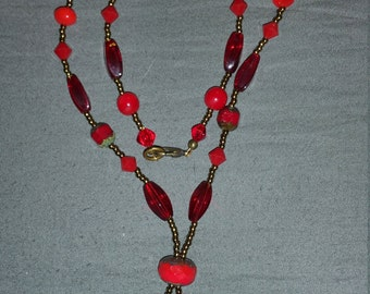 """11 1/2"""" Hand Beaded Necklace"""