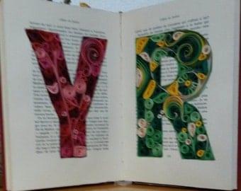 Initials custom paper - Quilling