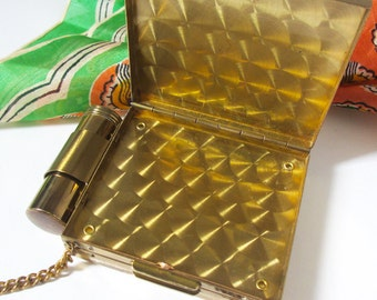 50s Party Case Compact, Cigarette Case and Lipstick Holder, Mid Century Handbag Style