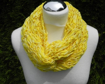 "soft Sommerloop ""Citrus"" cotton, Ribbon yarn, light and airy"