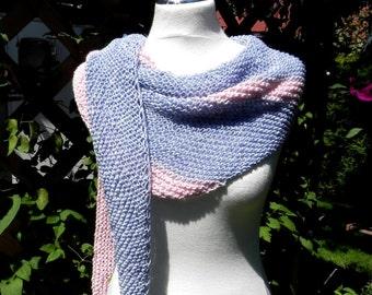 Shawl HANDKNIT scarf denim Rosa Sadiq towel