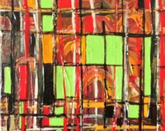 Colorblock Acrylic Painting - Original Artwork