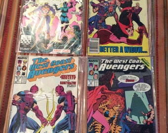 Marvel Comics The West Coast Avengers Comic Book Lot Vintage comic books Stan Lee Presents