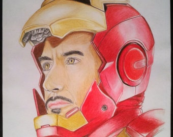 Iron Man - Colored Pencil Drawing