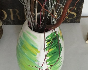 Hand-Painted Vase