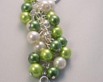 Handmade Lime Gall Bladder Awareness Hope Handbag Charm/Keyring
