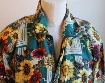 Vintage Sunflower Track Jacket