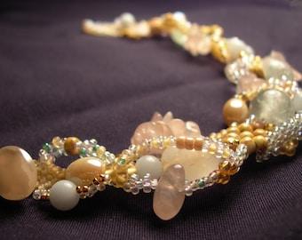 Freeform peyote bracelet pastels