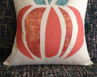 Pumpkin Pillow, 16 x 16 Pillow Cover,  Halloween Pillow, Fall Pillow,  Autumn Pillow, Harvest Pillow, Thanksgiving Pillow, 18 x 18 Pillow