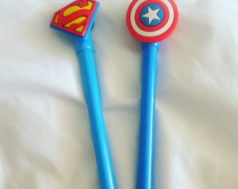 Superhero Gel Pens