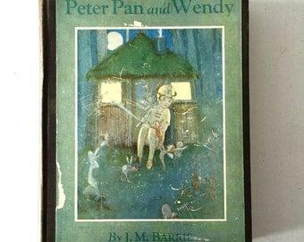 SALE***1936 Peter Pan and Wendy Hardback Antique Hardback Book