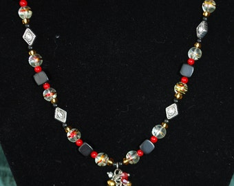 Beaded Necklace - Fireball
