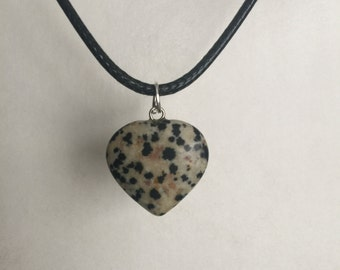 Dalmation Jasper Cord Necklace