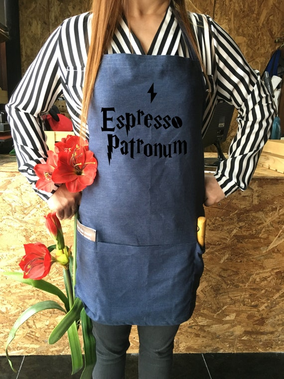 Espresso Patronum Harry Potter apron