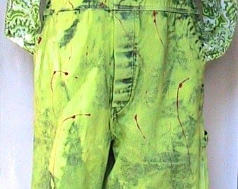OVERALLS Hand Dyed Hand Painted with Top by Banana Moon