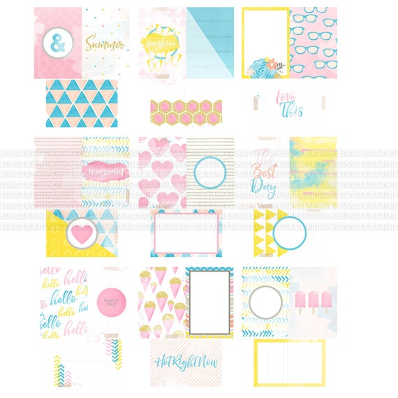 Hot Right Now Digital / Printable Journaling Cards (63 Cards)