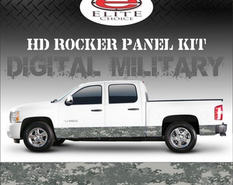 "Digital Military Camo Rocker Panel Graphic Decal Wrap Truck SUV - 12"" x 24FT"