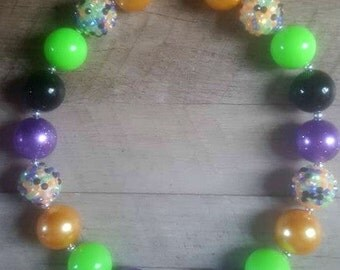 Halloween Chunky Necklace, Chunky Necklace, Bubblegum Bead Necklace, Chunky Beads, Baby Bubblegum Necklace, Halloween