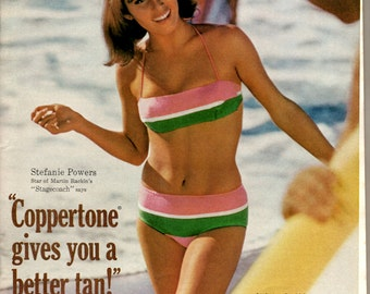 1960s Coppertone suntan lotion spokesperson Stefanie Powers 1708