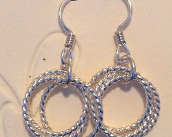 Little Silver Ring Earrings