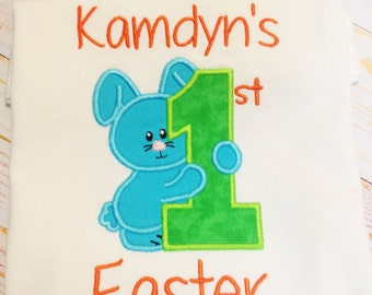 Personalized 1st Easter shirt, First Easter Shirt, Personalized Easter shirt, Bunny shirt, Personalized bunny shirt