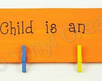 Custom Children's Artwork Sign