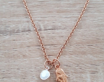 Necklace with followers, Rosé gold plated