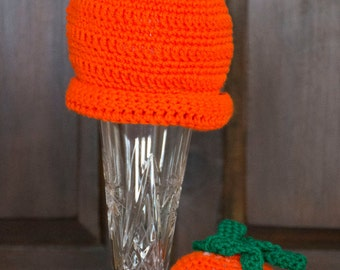 crochet pumpkin hat, pumpkin bonnet, new born orange hat, baby winter hat, baby photography prop, newborn photo prop, pumkin hat, orange toy
