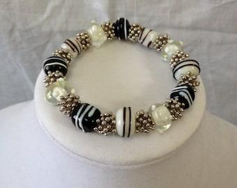 Black/White/Silver bracelet