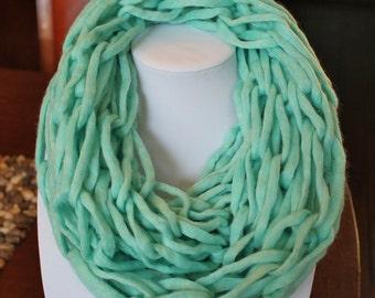 Mint Arm Knit Infinity Scarf