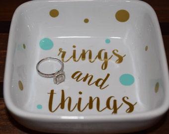 Ring Dish, Personalized Ring Dish, Personalized Dish, Rings And Things, Ring Holder, Custom Ring Holder, Monogram Ring Holder, Ring Holders